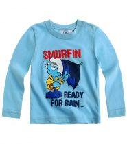 babies-les-schtroumpfs-tee-shirt-manches-longues-bleu-thumbs-13258