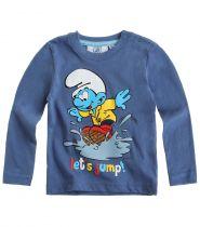babies-les-schtroumpfs-tee-shirt-manches-longues-bleu-thumbs-13260